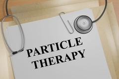 Particle Therapy - medical concept Stock Illustration