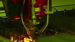Laser Machine in Heavy Industry Stock Footage