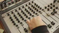 Working in sound studio Stock Footage