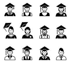 University students graduation avatar. Piirros