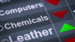 Chemicals index on the screen. Down. Looping. Stock Footage