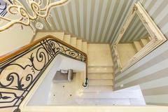 Stairs with decorative railing Stock Photos