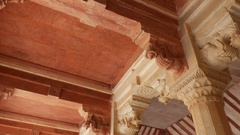 Amber Fort Architecture details in Jaipur, India Stock Footage