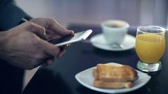 Using smartphone. Stock Footage