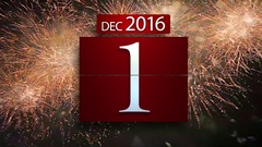 NEW YEAR 2017 Count with background Fireworks Stock Footage
