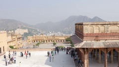 Amber Fort in Jaipur, India Stock Footage