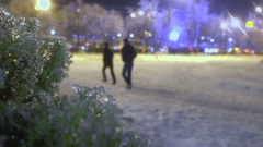 Frozen rain in European city Stock Footage