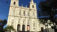 Church of Sao Vicente de Fora In Lisbon Establishing Shot, Portugal Stock Footage