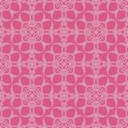 Pink Ornamental Seamless Line Pattern Stock Illustration