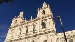 Church of Sao Vicente de Fora In Lisbon, Portugal Stock Footage