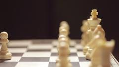 White pawn captures black king Stock Footage