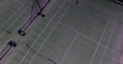 Tennis court from above Stock Footage