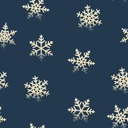 Seamless snowflakes retro pattern for winter Christmas holidays Stock Illustration