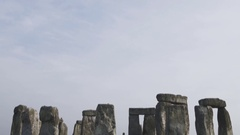 View of the ancient Stonehenge construction Stock Footage