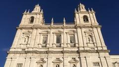 Monastery of Sao Vicente de Fora In Lisbon, Portugal Stock Footage
