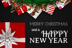 Christmas Message and Decoration Design Stock Photos
