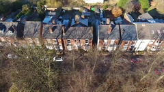 Aerial view of terraced houses. Stock Footage