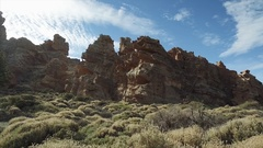 Footage of dramatic volcanic landscape, Tenerife, Canary Islands, Spain. Stock Footage