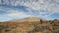 Hiking in Teide National Park. Stock Footage