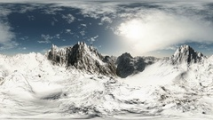 Aerial vr 360 panorama of mountains. made with the one 360 degree lense camera Stock Footage