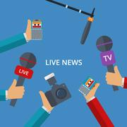 Vector illustration of live news Stock Illustration
