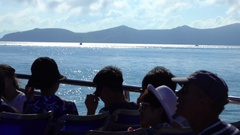 Group of Tourists on a Motor Boat Stock Footage