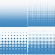 Vector illustration of a halftone pattern Stock Illustration