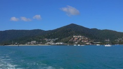 View of Whitsunday Island by Boat, Slow Motion Stock Footage