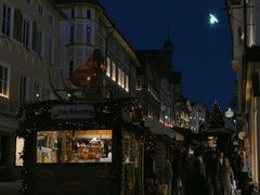 Christmas Market Bad Toelz in Bavaria, Germany Stock Footage