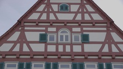 Framework houses in germany in evening sunlight Stock Footage