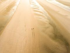 Camber Sands Beach at sunrise Stock Photos