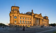 Reichstag Building, West facade, Berlin, Germany Stock Photos