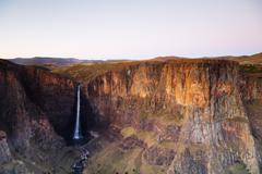 Maletsunyane Falls in Lesotho Stock Photos