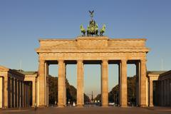 Brandenburg Gate at sunrise Stock Photos