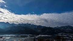 Clouds over the Tatra Mountains Stock Footage