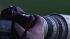 Sport Photographer Stock Footage