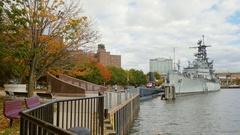 Buffalo, NY, USA: Buffalo and Erie country Naval and Military Park Stock Footage