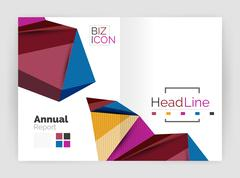 Low poly annual report Stock Illustration