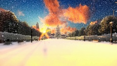 Park alley, winter holidays background Stock Footage