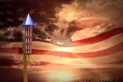 Composite image of rocket for fireworks Stock Illustration