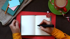 Sale, hand writes word in notebook on old style background as selling concept Stock Footage