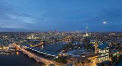 A night-time panoramic view of London Stock Photos