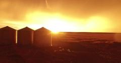 Grain Bin Sunset Stock Footage