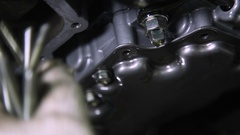 Repair fluid automatic transmission Stock Footage