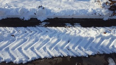 Old cemetery in winter time. Stock Footage