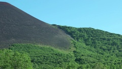 Sliding along slopes of Velvet hill. Kamchatka. Stock Footage