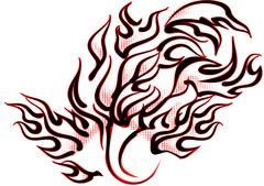 Abstract tattoo flames Stock Illustration