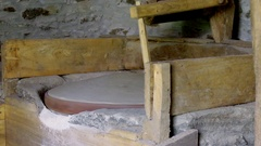 Traditional stone water mill in action 3 Stock Footage