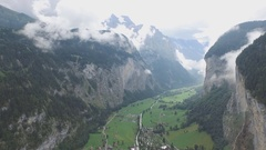 Switzerland, Lauterbrunnen (drone footage) Stock Footage