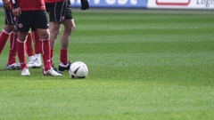 Soccer Training in Slow Motion Stock Footage